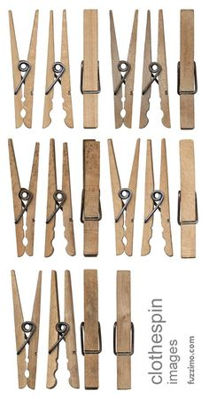 Free Hi-Res Wooden Clothespin Images by fuzzimo