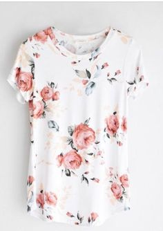 Super soft light weight tee with blush floral print. Simply adorable!