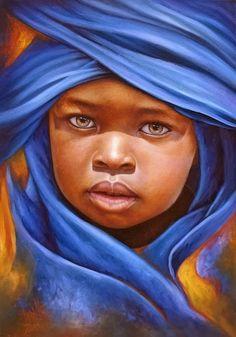 20 Beautiful African Children Paintings By Dora Alis - Fine Art and You - Painting Arte Black, Hyper Realistic Paintings, Foto Poster, African Children, African Babies, African Artists, Black Artwork, African American Art, Black Women Art