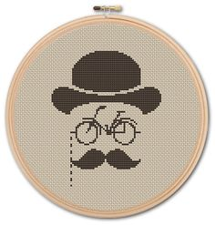 Hipster Counted Cross stitch Pattern PDFCross by KHANNAandILAN