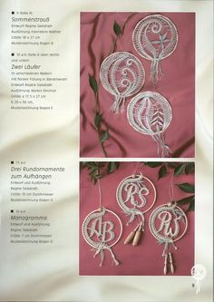ERZGEBIRGISCHE SPITZENTUST - Regine Sibdrath - Carmen sobral silva - Picasa Web Album Bobbin Lace Patterns, Lacemaking, Point Lace, Lace Jewelry, Monogram Letters, A 17, Home Crafts, Tatting, Alphabet