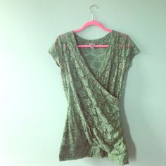 Vanity vintage-inspired lace blouse My absolute FAVORITE color of green, in pace like this makes it feel like a glamorous 60's gown, for a modern gal. Very stretchy and a super-flattering cut for us curvy gals :) Vanity Tops Blouses