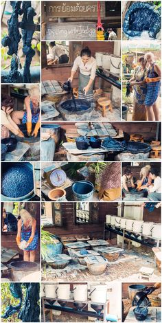Indigo Dyeing Workshop, Chiang Mai   Thailand   September 2015 © Janine L. Thun see more on www.hereandnow.life