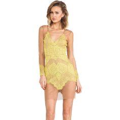 For Love & Lemons Antigua Mini Dress- LOVE, love, LOVE