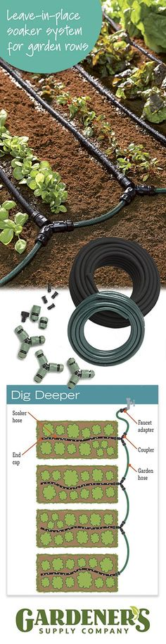 Customizable Vegetable Garden Row Soaker Hose System — Just Snip-n-Drip!