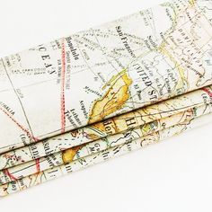 Old World Expedition Maps Cotton Napkins / Set of 4 / ME2Designs Handmade Table Decor. These handmade old world expedition maps napkins feature images of old nautical expedition global maps. The map images are superimposed so, for example, Australia is shown just off the shores of Mexico, and Hong Kong and the Philippine Islands are shown just east of the Dominion of Canada. These eco friendly napkins would make a great nostalgic table decor addition and are a great idea for a gift under...