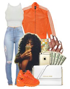 """""""Your girlfriend gotta be the Homie, that's how things last"""" by heavensincere ❤ liked on Polyvore featuring adidas Originals, MANGO and MICHAEL Michael Kors"""