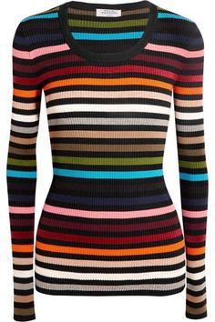 Sonia Rykiel - Striped Stretch-knit Sweater - Red -