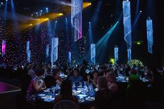 Night of the stars, fancy, chandeliers, lights, gala dinner