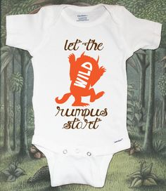 Where the Wild Things Are Baby Onesie  Let The by peanutandtheowl, $13.00