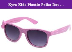 "Kyra Kids Plastic Polka Dot Bow Sunglasses in Pink. Style: ""Polka Dot"" Summer fun! Great for kids of all ages, perfect fit with bow. *FREE Soft Pouch Included *Polycarbonate Lenses: Impact Resistant, Lighter, UV Protection *UV400 Protection *Ships FREE and FAST from Newbee Fashion® > Newbee Fashion® provides superb customer service with affordable high quality products. With each pair of glasses, including our clear lens series, you will be protected by the best UV400 lenses. 100% UVA and..."