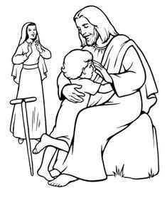 milagros de jesus para colorear imagen de jesus para imprimir