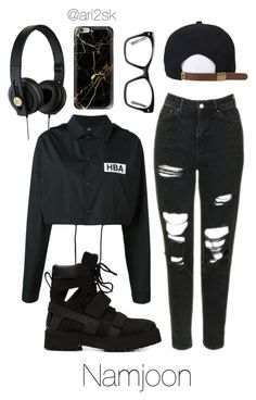 """Out with Namjoon ✖️➕✖️"" by ari2sk on Polyvore featuring Hood by Air, Topshop, Spitfire and Casetify"