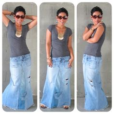 excellent tutorial on how to upcycle old jeans!  guess what I am doing this weekend! I love denim skirts!!!
