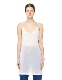 ANN DEMEULEMEESTER STRAPPY TANK TOP. #anndemeulemeester #cloth #