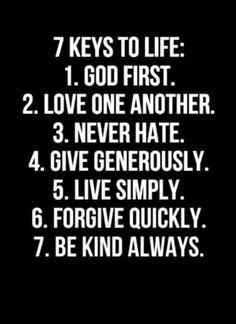 7keys to LIFE...AMEN