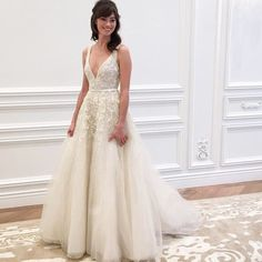 """#mulpix New arrival in store now! Style """"Versailles"""" V-neck tulle A-line gown featuring exquisite tone on tone beading with illusion back from Anne Barge Spring 2016 Wedding Collection! @annebargebride #annebarge #annebargebride #newcollection #spring2016 #versailles #frenchgarden #beaded #beading #vneck #illusionback #tulle #wedding #weddinggown #weddingdress #weddinginspiration #bride #bridetobe #bridal #bridalgown #bridaldress #bridaldesigner #bridalfashion #bridalt..."""
