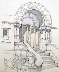 Adams | Another detail sketch of the mansion on the corner o… | Flickr