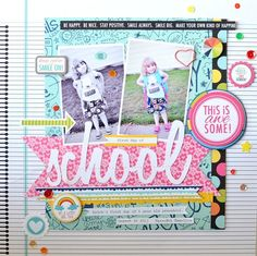 Today I'm sharing a layout I did with a divided page protector and the new Snapshots line! I just love that hand doodled card and I used m...