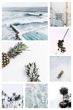 Moodboard by LeaBo Summer - soft blue color palette - graphic design inspiration