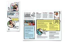 Elementary School Brochure Template Design