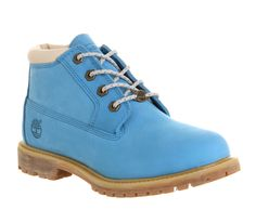 Timberland Nellie Chukka Double Waterproof Boot Blue Suede - Ankle Boots