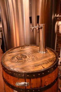 Refrigerated Whiskey Barrel Kegerator for a Jet Fighter Pilot