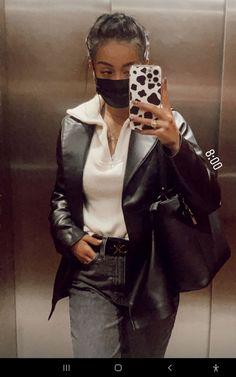 Leather Jacket, Rivers, Tik Tok, Jackets, Fashion, History Photos, Clothing, Storage, Studded Leather Jacket