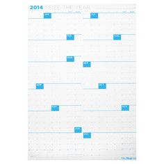 I use this calendar each year-- convenient to see all months at once. Reverse side has calendar printed horizontally.   Seize The Year 2014 Calendar, $16, now featured on Fab.