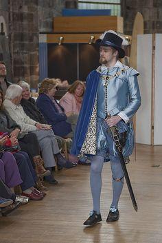 Renaissance Costume Fashion Show by Edinburgh Museums & Galleries Elizabethan Costume, Renaissance Costume, Renaissance Fashion, Historical Costume, Historical Clothing, Retro Fashion, Fashion Show, Mens Garb, Fairytale Fashion