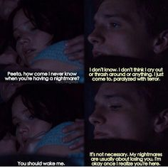 Peeta and Katniss <3 why was this not in the movie?