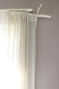 #DIY  A creative curtain rod! http://www.lynneknowlton.com/how-to-make-a-curtain-rod/