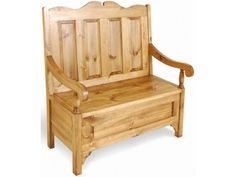 Vintage Pine 2 Seat Monks Bench £390.00