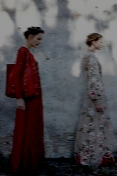 Photographed by Deborah Turbeville for Valentino, Spring 2012.