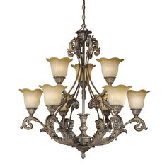 Shop Vaxcel Lighting  MT-CHU009AR 9 Light Monte Carlo Chandelier at The Mine. Browse our chandeliers, all with free shipping and best price guaranteed.