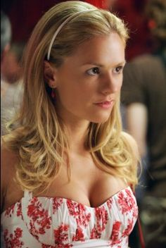 I love this dress! I wish I could find a better picture, but it's one of Sookie Stackhouse's many pretty sundresses.