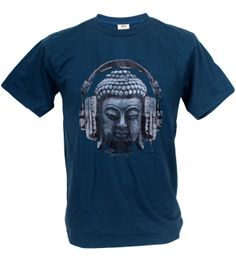 Tshirtmystyle Mens Buddha Head Love Music Headphones Peace Man T-Shirt