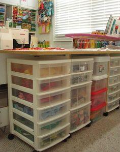 SpringLeaf Studios: My Colorful Studio - great scrap storage