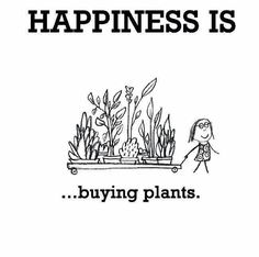 Happiness Is Buying Plants