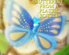 Butterfly from a plastic bottle