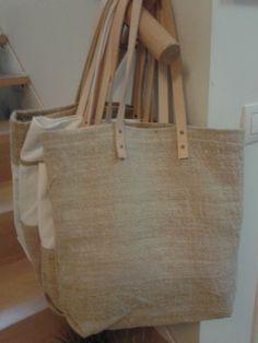 Bolso hecho a mano con tela de cáñamo. Hemp bag