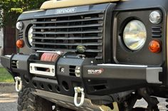 Paraurti Land Rover Defender Black Cover Winch - Equipe 4x4 Off Road