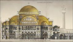 French Illustrator Revives the Byzantine Empire with Magnificently Detailed Drawings of Its Monuments & Buildings: Hagia Sophia, Great Palace & More : history Architecture Drawings, Classical Architecture, Historical Architecture, Art And Architecture, Architecture Illustrations, Hagia Sophia, Ste Sophie, Rome, Byzantine Architecture