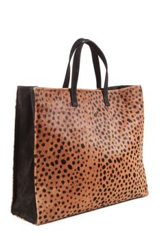 Leopard+Print+Tote+Leather+Tote+Clare+Vivier+by+MimicDesign,+$260.00