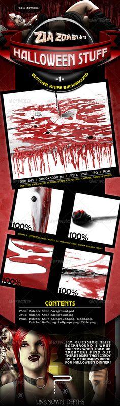 Butcher Knife Background