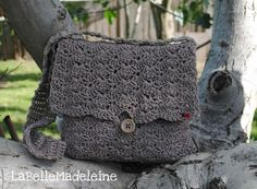 Crochet Messenger Bag Handbag Purse book bag by @BelleMadeleine, $50.00 #Etsy