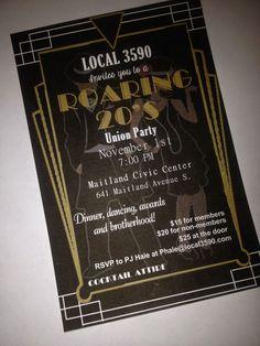 Roaring 20's invitation