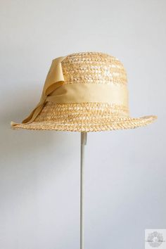 Straw Cloche Hat   Millinery Hat in 1920s by SalvatoCollection, $60.00