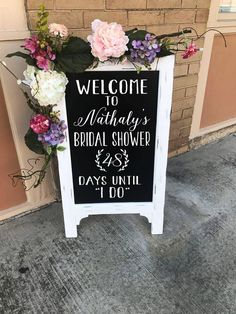 Best Day Ever Sign Chalkboard Easel Welcome To Our Wedding Sign Wedding Day Decor Aisle Decor Wedding Chalkboard Wedding Easel Wood Sign - TimberandLaceCo - Bridal Shower Planning, Bridal Shower Signs, Bridal Shower Party, Bridal Shower Decorations, Bridal Showers, Wedding Planning, Wedding Decorations, Bridal Shower Welcome Sign, Bridal Parties