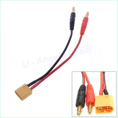1pcs RC Battery Charge XT60 to 4.0mm Banana Plug 16AWG 15cm Cable Connector for RC Helicopter Quadcopter Lipo Battery